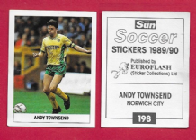 Norwich City Andy Townsend Eire 198